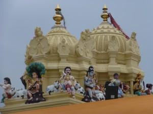 Decorative tower, gopuram, above the temple entrance.